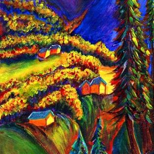 Art: On the Way to Ouray by Artist Christine Wasankari