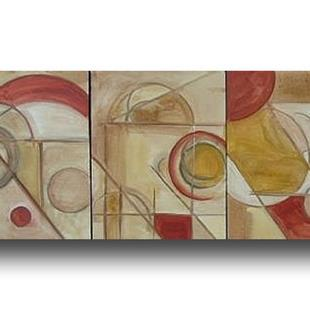 Art: architectural series triptych 1 by Artist Eridanus Sellen