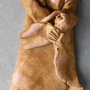 Art: Mother and Child Ornament by Artist Deborah Sprague