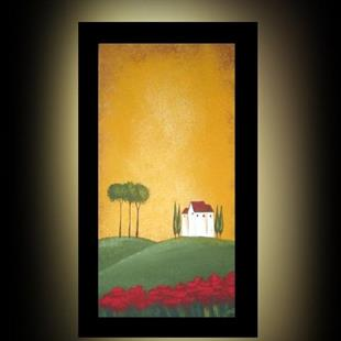 Art: Tuscan Villa - Trees and Poppies II - SOLD by Artist Charlene Murray Zatloukal