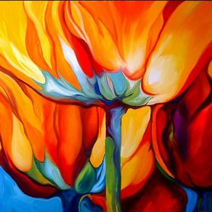 Art: ABSTRACT POPPIES 3 by Artist Marcia Baldwin