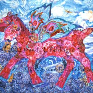 Art: Hot Pink Flyin' Faerie Goat by Artist Wendy L Feldmann