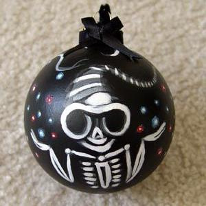 Art: Waiting For Skelly Claus - Morbidly Adorable Ornament #1 by Artist Misty Monster (Benson)