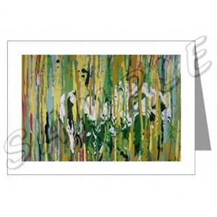 Art: ABSTRACT ART GREETING CARDS SPRING FEVER DAWN EBSQ wwao by Artist Dawn Hough Sebaugh