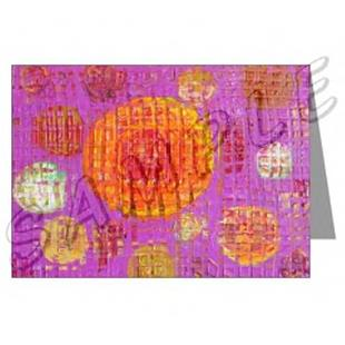 Art: ABSTRACT ART GREETING CARDS ORANGE MOON DAWN EBSQ wwao by Artist Dawn Hough Sebaugh