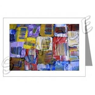 Art: ABSTRACT ART GREETING CARDS QUASAR DAWN EBSQ wwao by Artist Dawn Hough Sebaugh