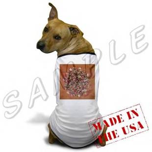 Art: ABSTRACT ART DOGGIE SHIRT FOREVER MINE DAWN EBSQ WWAO by Artist Dawn Hough Sebaugh