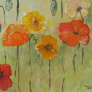 Art: California Poppies, SOLD by Artist Delilah Smith