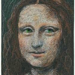 Art: Green-eyed Mona Lisa by Artist Sara Field