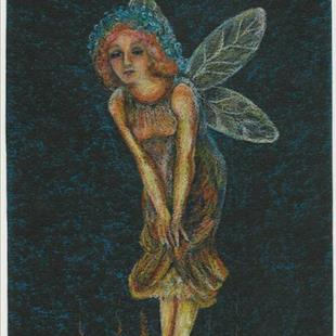 Art: Midsummers Eve Fairy by Artist Sara Field