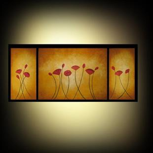 Art: Poppies for My Loved Ones -SOLD by Artist Charlene Murray Zatloukal