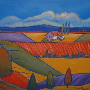 Art: Vue De Hilltop by Artist Virginia Kilpatrick