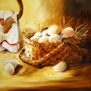 Art: Nana's Fresh Eggs by Artist Laurie Justus Pace