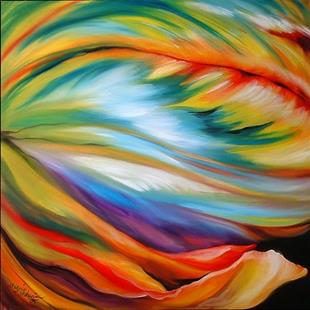 Art: ABSTRACT PARROT TULIP by Artist Marcia Baldwin