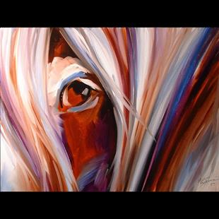 Art: SPIRIT EQUINE EYE by Artist Marcia Baldwin