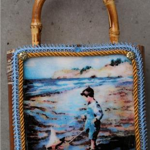 Art: Cigar box Purse OCean Beaches by Artist Deborah Sprague