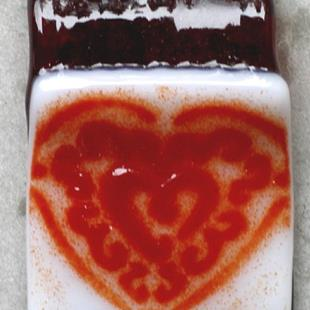 Art: Valentines Day HEART pendant by Artist Deborah Sprague