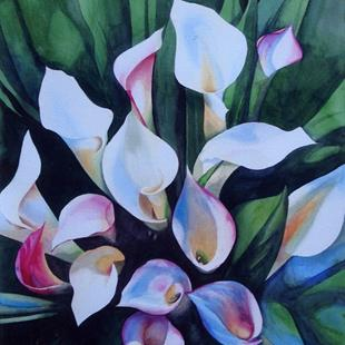 Art: Calla Lilies SOLD by Artist Kathy Haney
