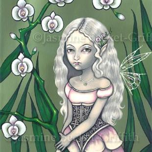 Art: Princess of Orchids by Artist Jasmine Ann Becket-Griffith