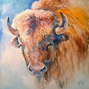 Art: WHITE BUFFALO II by Artist Marcia Baldwin