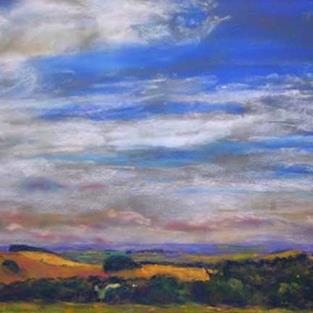 Art: View  from Hardwick Hall, Derbyshire by Artist John Wright