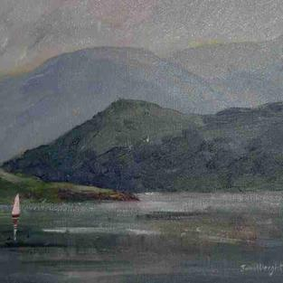 Art: Sailing On Ulswater (Lake District) by Artist John Wright