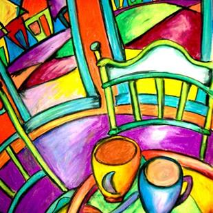 Art: Morning Coffee and Heart Candy by Artist Chris Jeanguenat