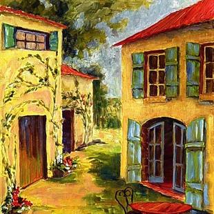Art: FRENCH COUNTRY VILLAGE by Artist Diane Millsap