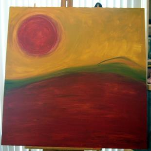 Art: RED SUN IN ITALY by Artist Eridanus Sellen