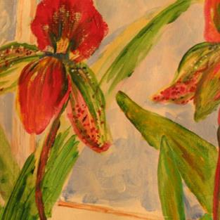 Art: Orchids- sold by Artist Delilah Smith