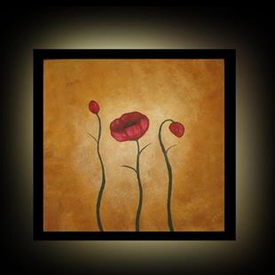 Art: Three Tuscan Poppies by Artist Charlene Murray Zatloukal