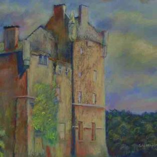 Art: From The West (Brodick Castle, Arran) by Artist John Wright
