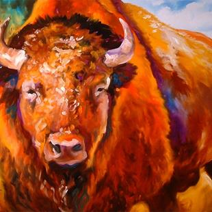 Art: BUFFALO WEST by Artist Marcia Baldwin