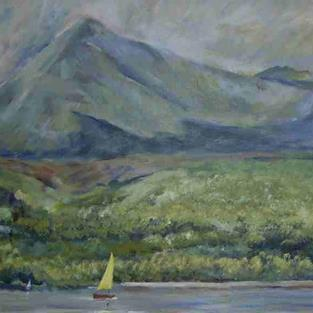 Art: Goat Fell From Brodick Bay, Arran by Artist John Wright