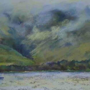 Art: Glen Rosa From Brodick Bay, Arran by Artist John Wright