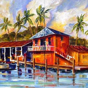 Art: Florida Keys - Diptych by Artist Diane Millsap