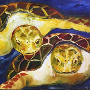 Art: Turtle Time by Artist Laurie Justus Pace