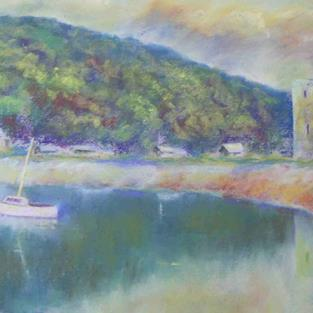 Art: Lochranza, Arran by Artist John Wright