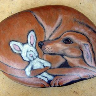 Art: Sasha Doss - rabbit hound by Artist Tracey Allyn Greene