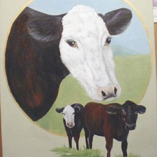 Art: Holly Hinkle's Cows//SOLD by Artist Barbara Haviland