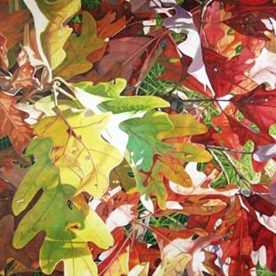 Art: Glorious Fall - oil painting by Artist Harlan