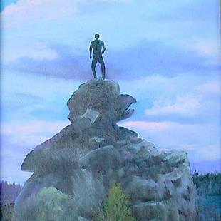 Art: On Top of The World  Wyoming by Artist Barbara Haviland
