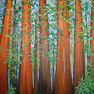 Art: Rapturous Redwoods by Artist Lindi Levison