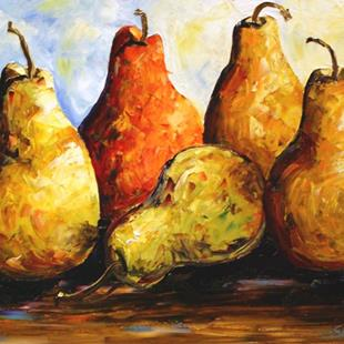 Art: Pears of Joy by Artist Laurie Justus Pace