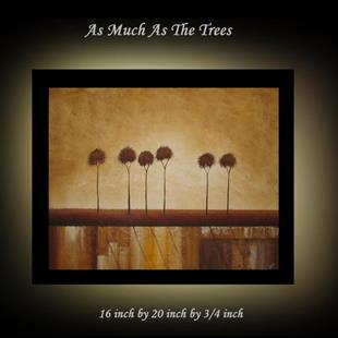 Art: As Much As The Trees-sold by Artist Charlene Murray Zatloukal