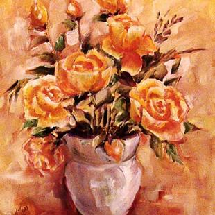 Art: Yellow Roses by Artist Diane Millsap