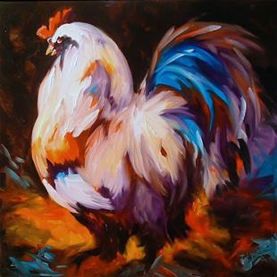 Art: ROOSTER WEST by Artist Marcia Baldwin