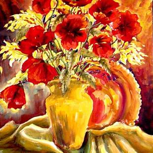 Art: Red Poppies - SOLD by Artist Diane Millsap