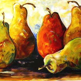 Art: Pear Party by Artist Laurie Justus Pace