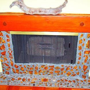 Art: Moroccan Fireplace by Artist Kathabela Wilson